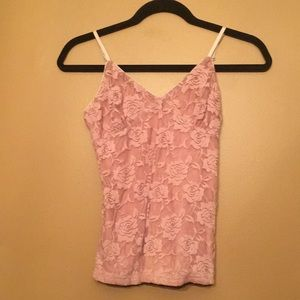 Lace camisole tank top